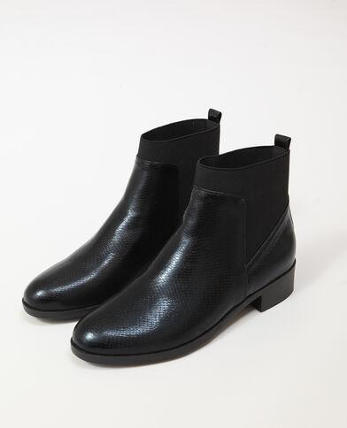 Platte laarsjes zwart