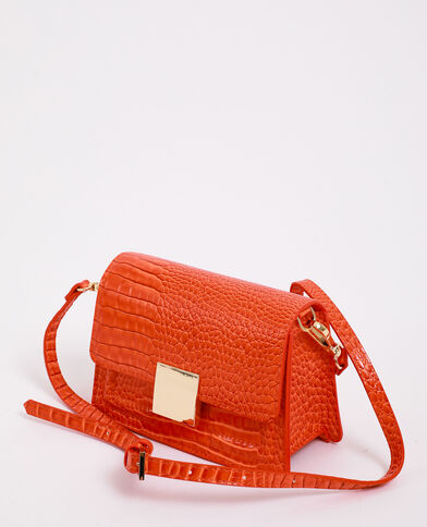 Sac effet croco orange
