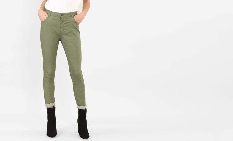 Slim broek groen
