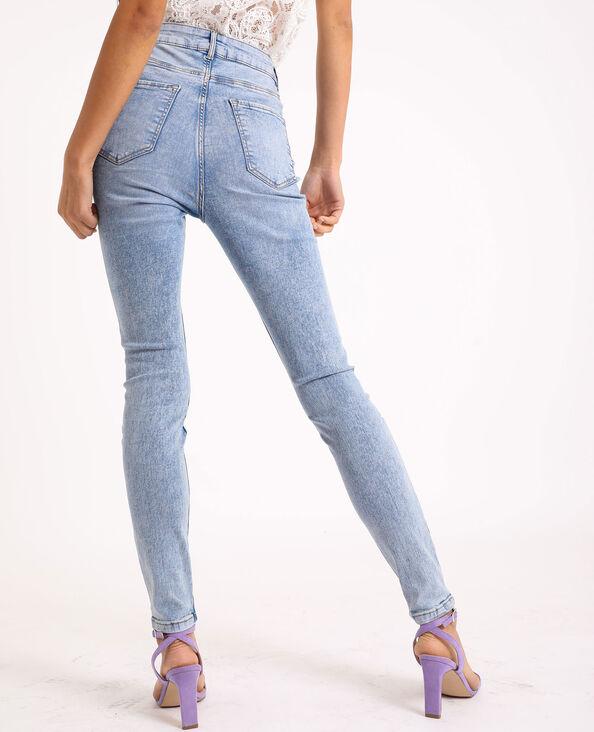 Skinny jeans met hoge taille Lichtblauw
