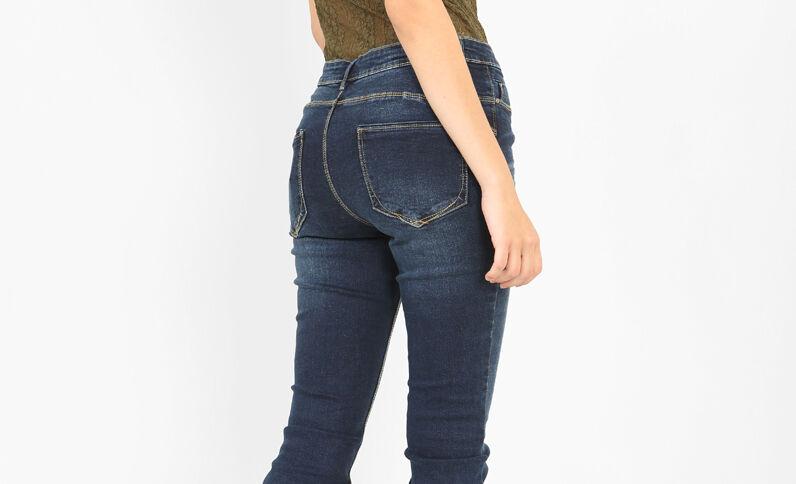 Skinny push-up jeans blauw