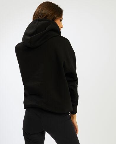 Sweater met kap zwart - Pimkie