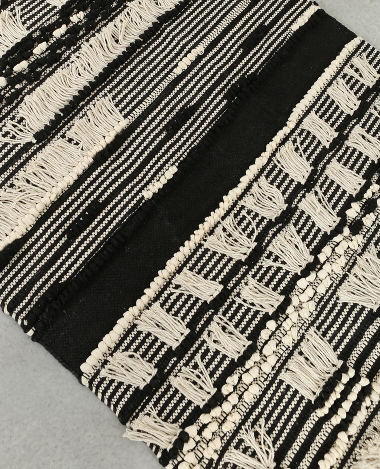 Tapis à franges noir