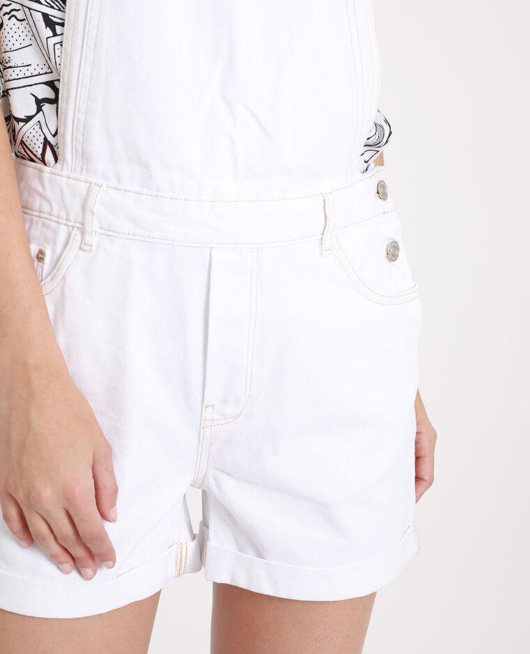 Salopette en jean blanc