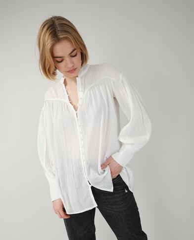 Chemise longue blanc cassé - Pimkie