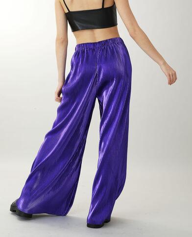 Brede broek violet