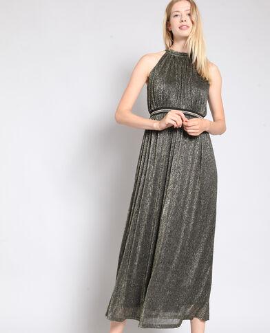 Robe longue lamée noir