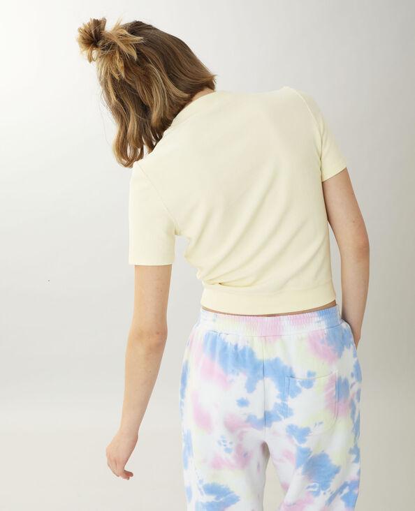 Shirt van teddystof geel - Pimkie