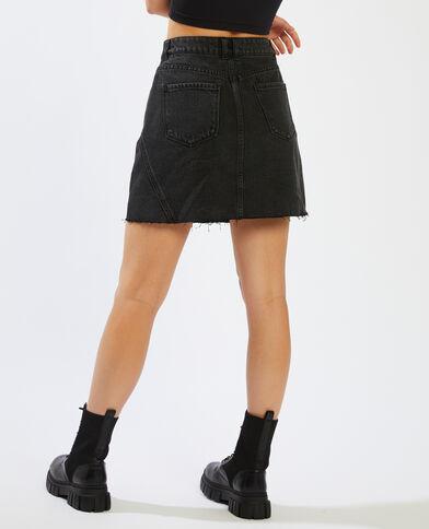 Jupe en jean gris foncé - Pimkie