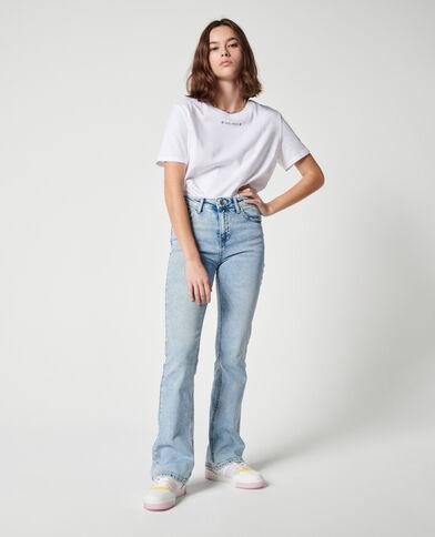 Jean flare mid waist bleu clair - Pimkie