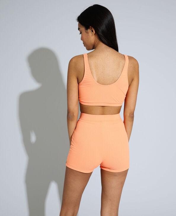 Sportieve bikinitop van ribstof oranje - Pimkie