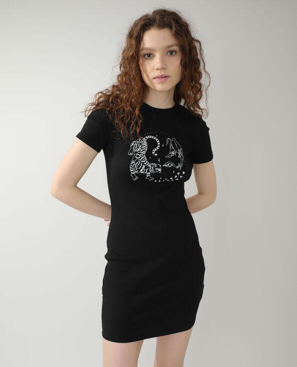 Robe t-shirt noir - Pimkie