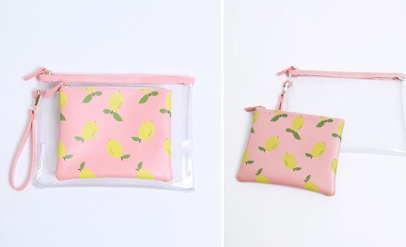 Enveloptasjes met citroenprint geel