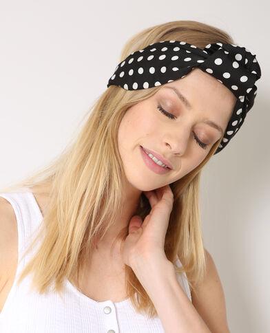 Haarband met stippen zwart