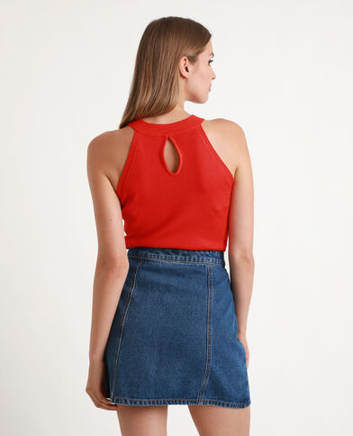 Shirt van ribstof rood