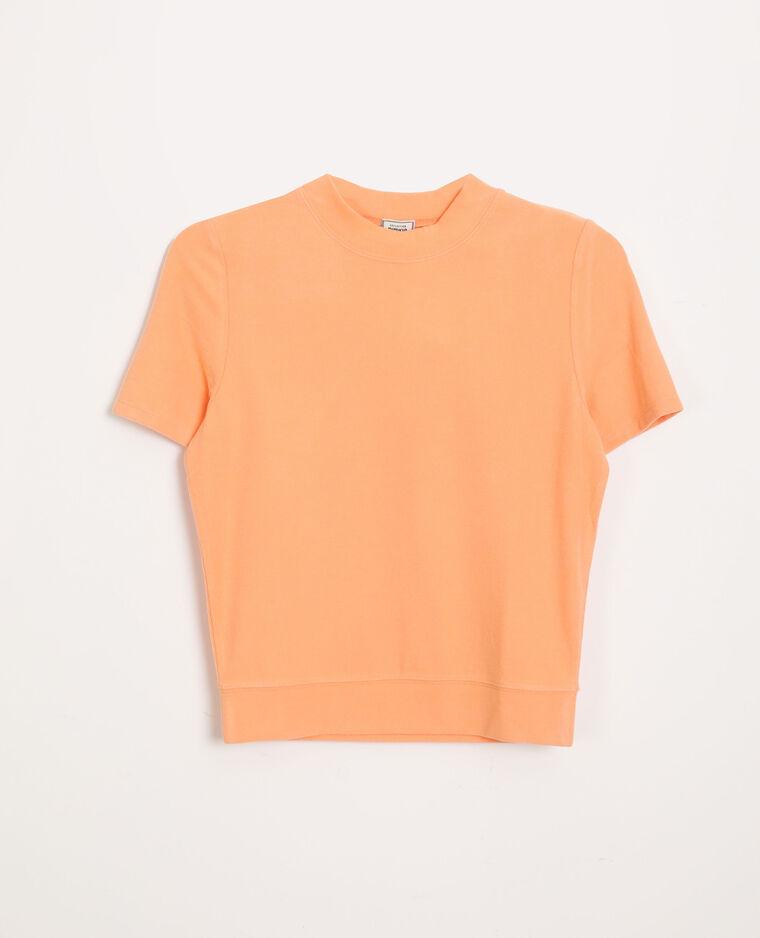 T-shirt doux orange