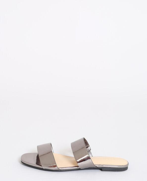 Platte sandalen zilvergrijs