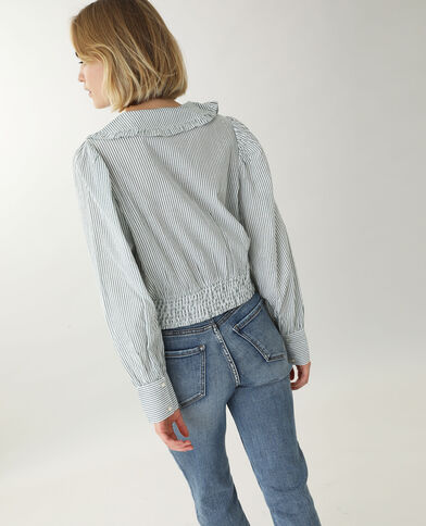 Chemise à grand col blanc - Pimkie