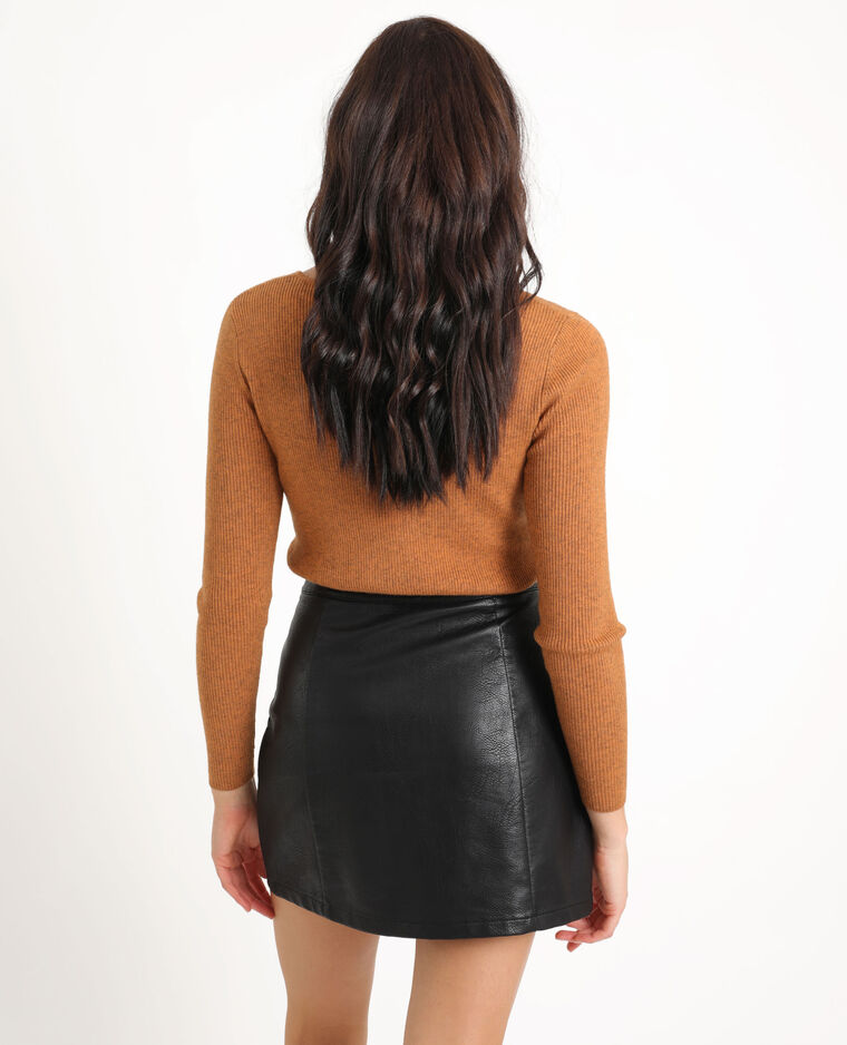 Pull chiné marron