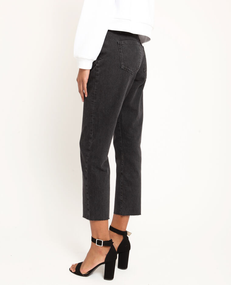 Rechte jeans met middelhoge taille zwart