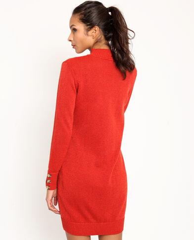 Trui-jurk met glitters rood