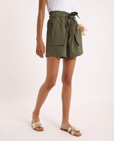 Short met hoge taille groen