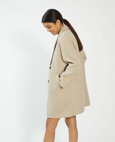 Lange mantel beige - Pimkie