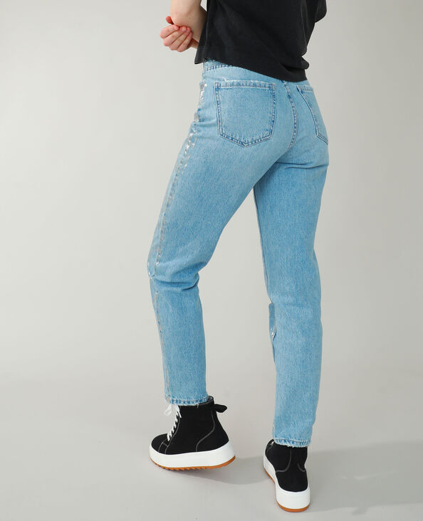 Straight-fit jeans fantasie grijs - Pimkie