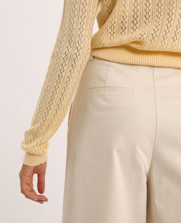 Pantalon taille haute beige