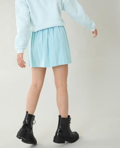 Jupe plissée bleu ciel - Pimkie