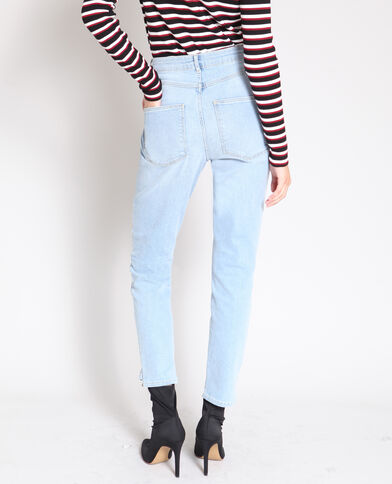 Slim fit jeans met hoge taille Lichtblauw