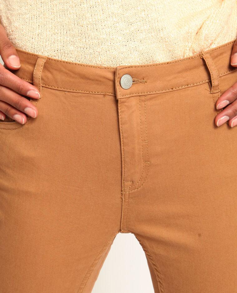 Skinny push up marron