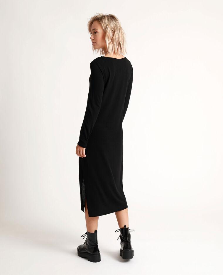Robe longue à dentelle noir