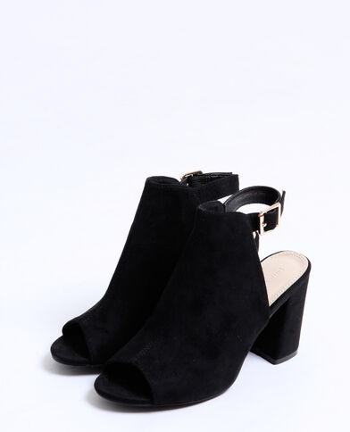 Open sandalen zwart