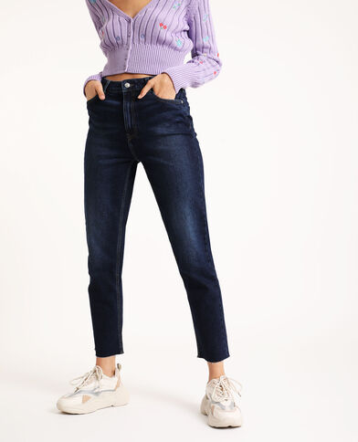 Straight-fit jeans donkerblauw