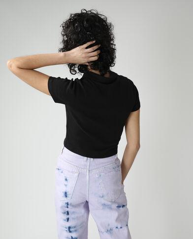 Poloshirt met rits zwart - Pimkie