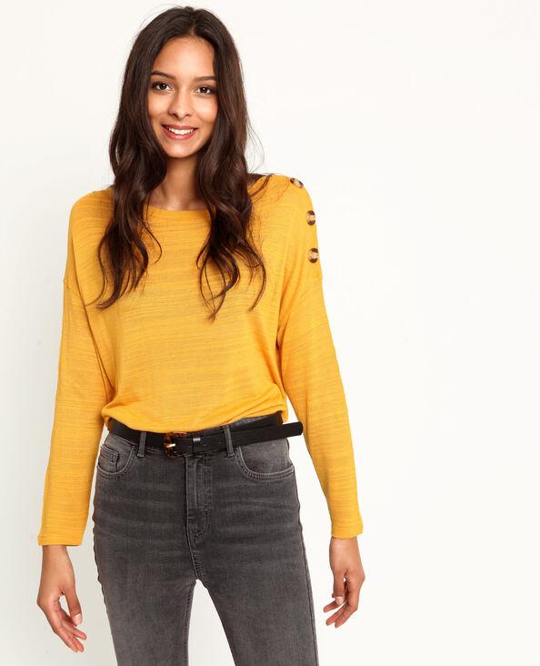 T-shirt met lange mouwen geel