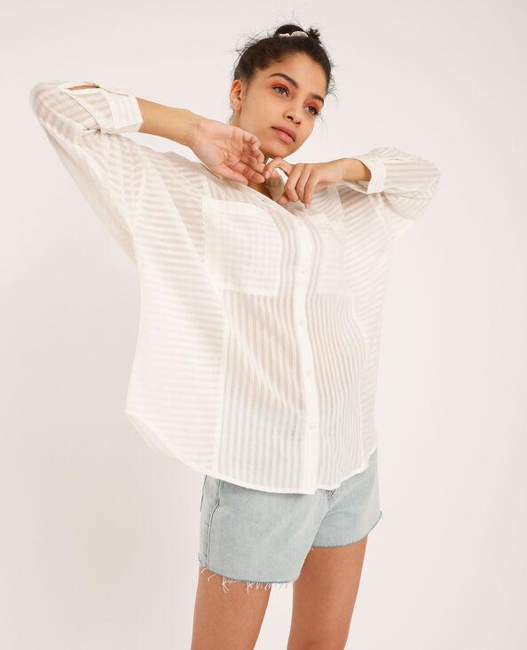 Chemise ample blanc