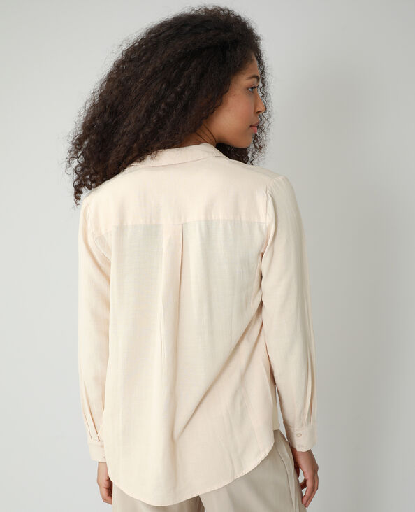Oversized asymmetrisch hemd beige - Pimkie