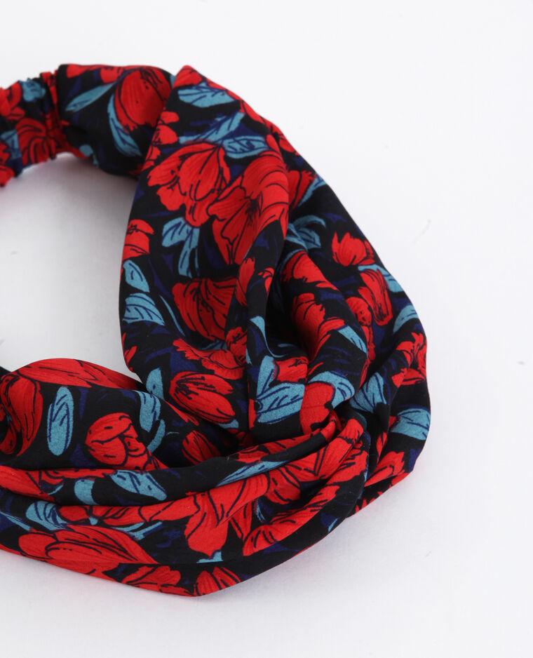 Haarband met bloemenprint rood
