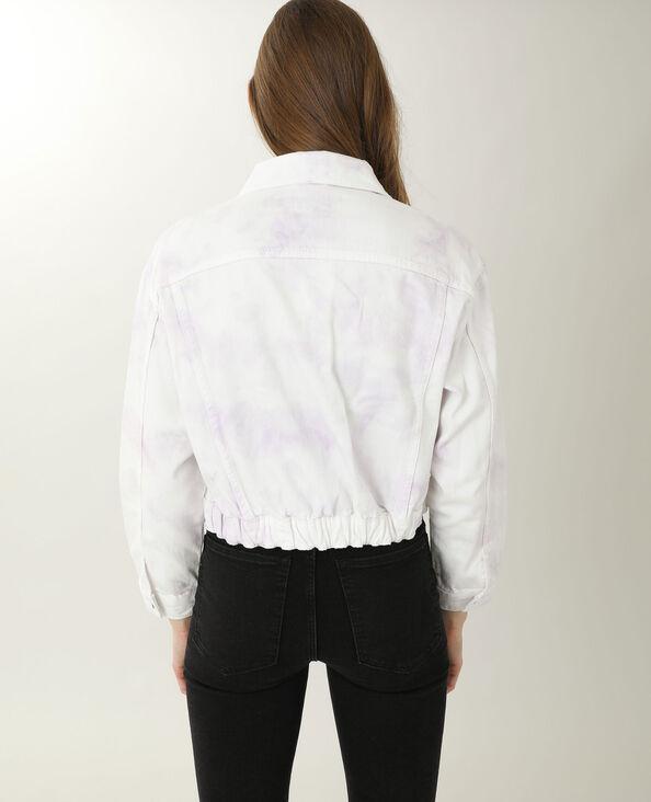 Veste en jean tie and dye blanc
