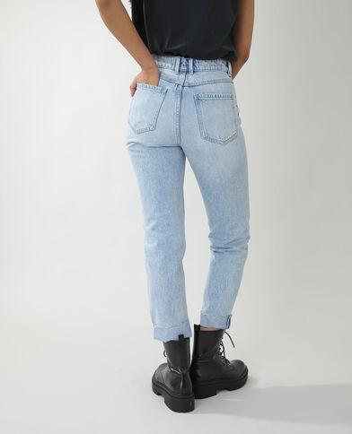 Jean straight high waist bleu clair - Pimkie