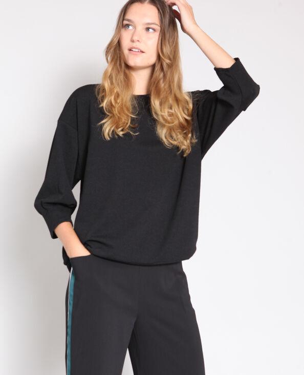 Sweater met pofmouwen zwart