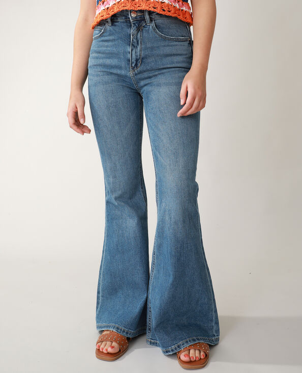 Jean flare high waist bleu denim - Pimkie