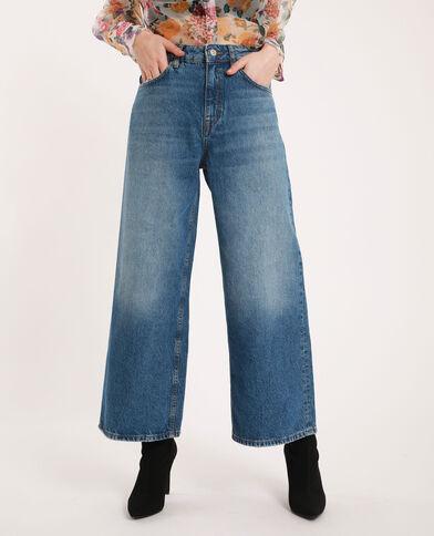 Wide leg jeans donkerblauw