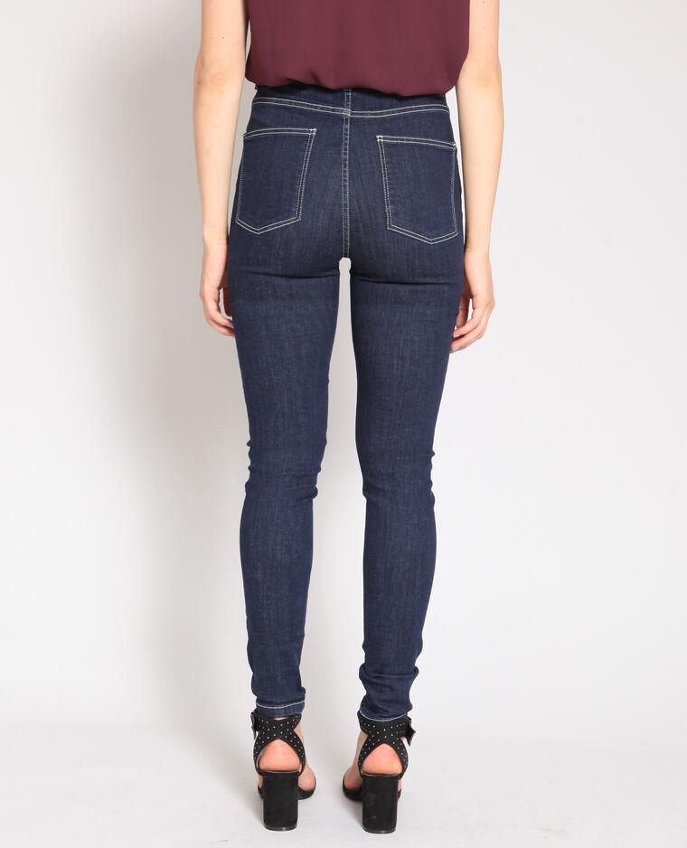 Jean skinny taille haute bleu
