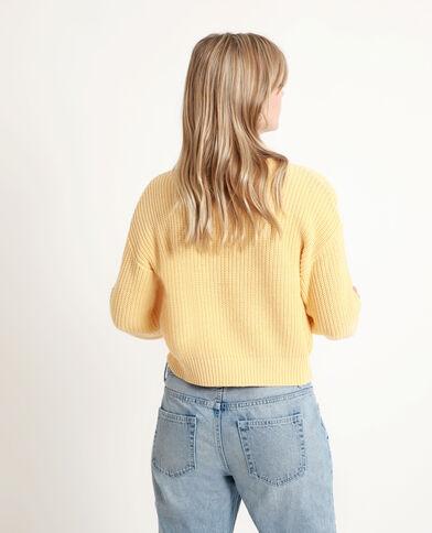 Korte trui geel