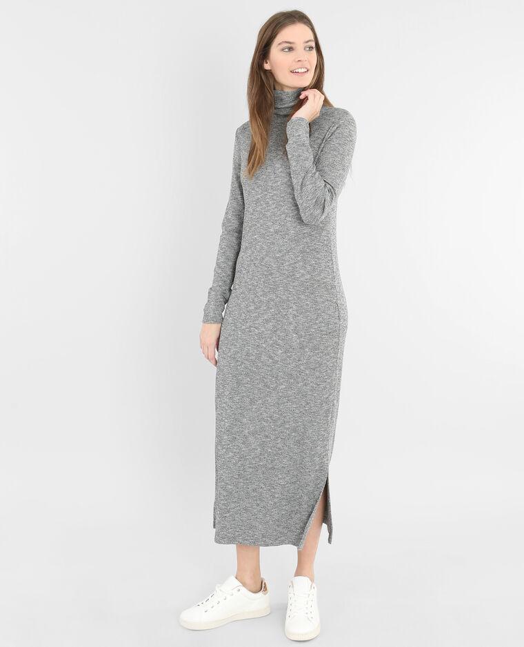 Robe longue côtelée gris chiné - 781173830J08   Pimkie 27133df6d8e1