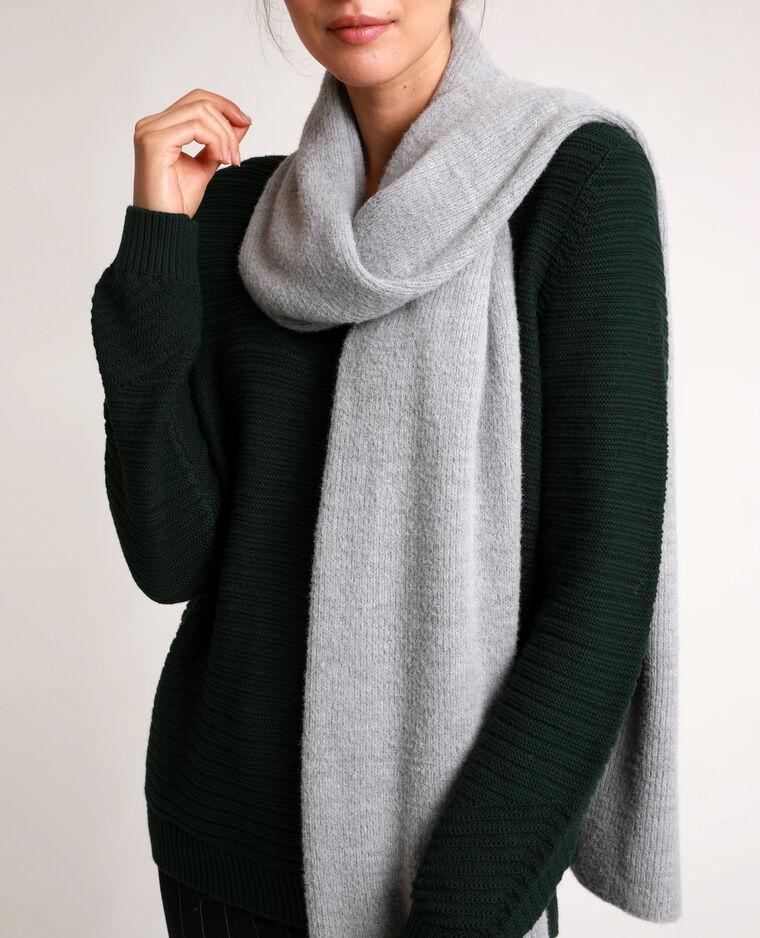 Lange sjaal parelgrijs