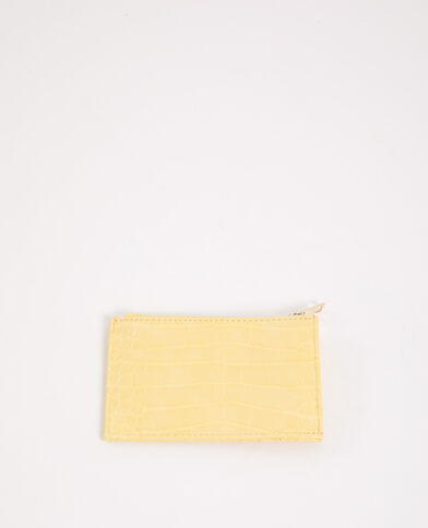 Porte-cartes jaune